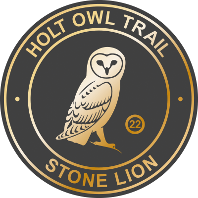 Holt Owl Trail Plaque 22 Stone Lion